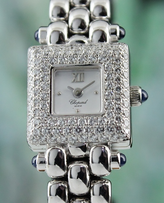 LIKE NEW CHOPARD 18K WHITE GOLD DIAMOND WATCH